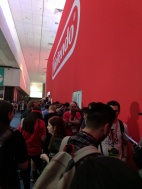 The back of the Nintendo booth, outside